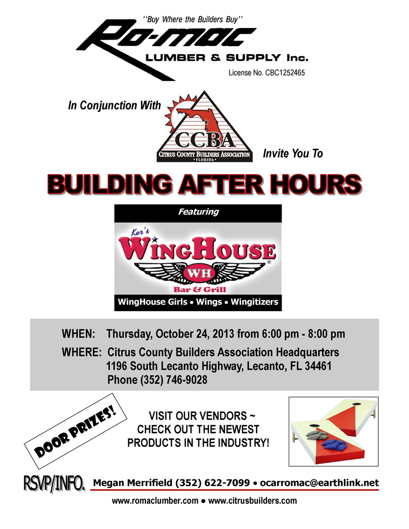 Flyer Building After Hours Oct 24 13